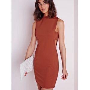 Missguided• Burnt Orange Cut Out Dress